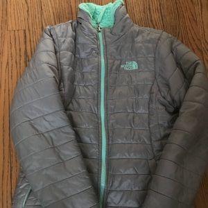 North Face Girls Mossbud Swirl Jacket Large 14-16